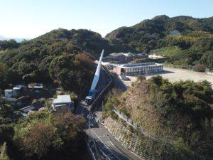 ブレードが風車建設地へ輸送されました。